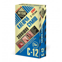 Артисан С-12 для приклеивания керамогранита и камня, 25кг