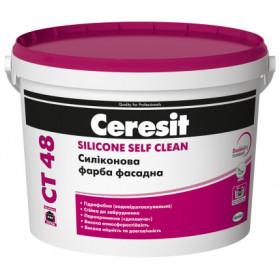 Ceresit CT 48 атомсферостойкая силиконовая краска, 10 л.
