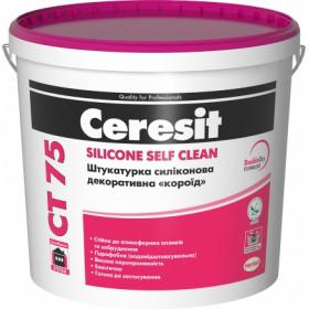 Ceresit CT 75 Короед декоративная силиконовая, 25 кг