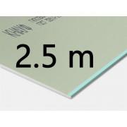 Гипсокартон влагостойкий потолочный Knauf 2,5 м