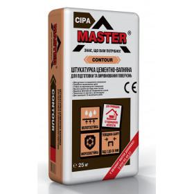Мастер Контур, цементно- известковая штукатурка до 20 мм, 25 кг.