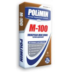 Полимин M-100 для ремонта, оштукатуривания и кладки, 25 кг