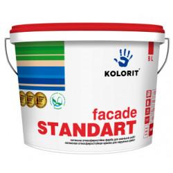 Колорит Фасад-Стандарт латексная краска, 9 л