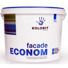 Колорит Фасад - Эконом латексная краска, 10 л