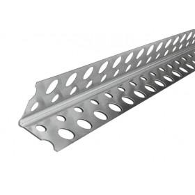 Уголок алюминиевый перфорированный 3 м