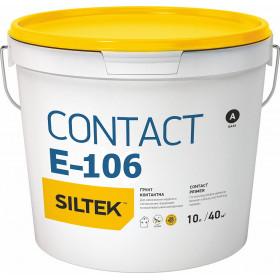 Силтек Е-106 бетоконтакт, грунтовка с кварцем, 10 л,