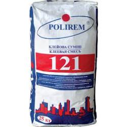 Полирем 121 термостойкий клей для плитки, керамогранита, гипсокартона, 25 кг
