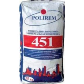 Полирем СШП 451 белая цементная шпаклевка 1-10мм, 25 кг