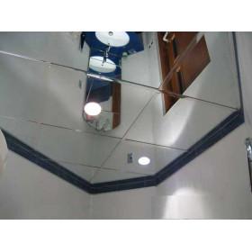 Зеркальный алюминиевый потолок, серебро