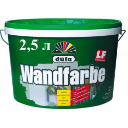 Dufa Wandfarbe D1, белая матовая, 2,5 л